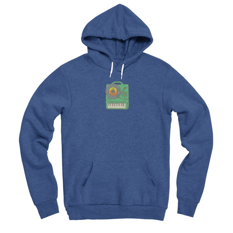Portable Record Player 17 Men's Pullover Hoody by