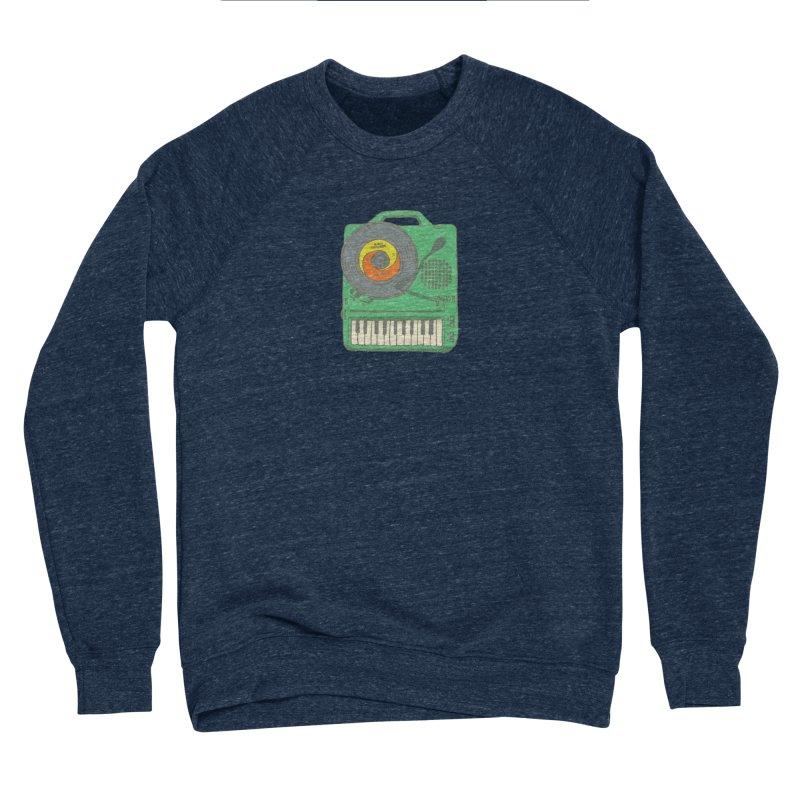 Portable Record Player 17 Men's Sponge Fleece Sweatshirt by