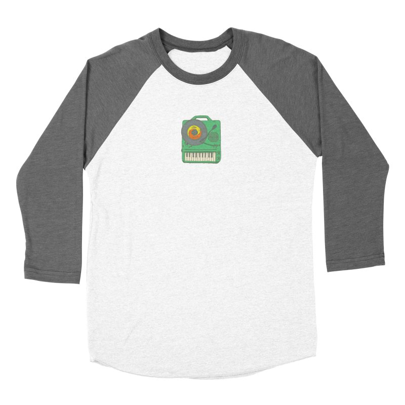 Portable Record Player 17 Women's Baseball Triblend Longsleeve T-Shirt by