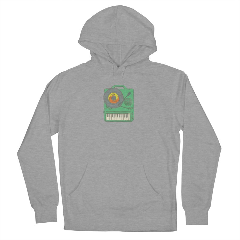 Portable Record Player 17 Women's French Terry Pullover Hoody by