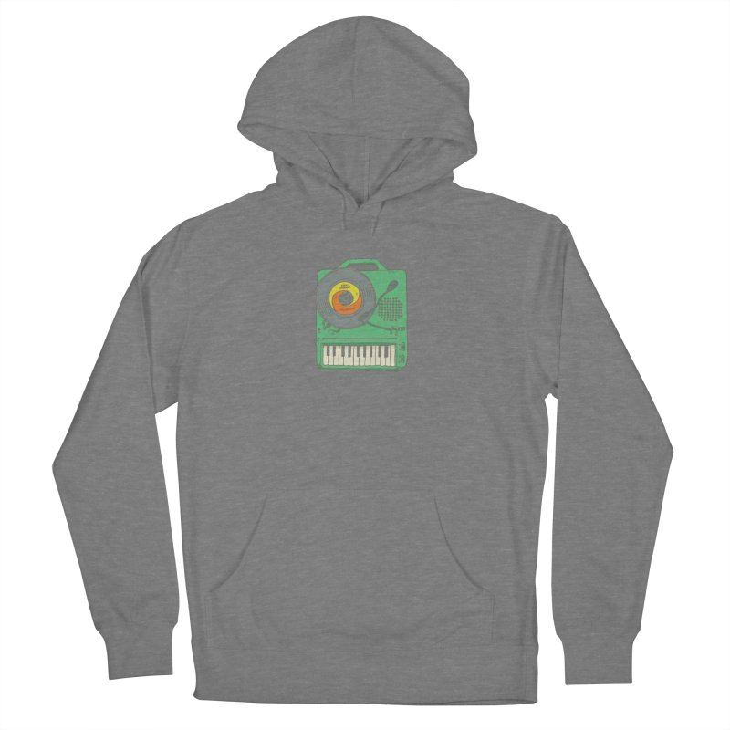 Portable Record Player 17 Men's French Terry Pullover Hoody by