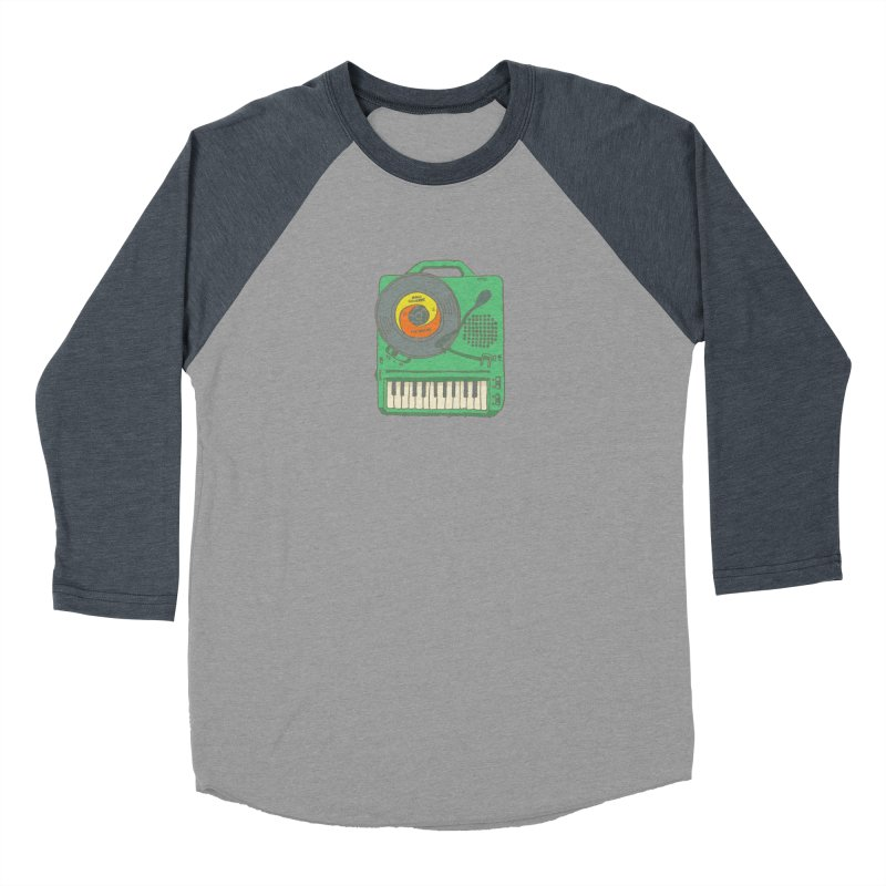 Portable Record Player 17 Women's Baseball Triblend Longsleeve T-Shirt by
