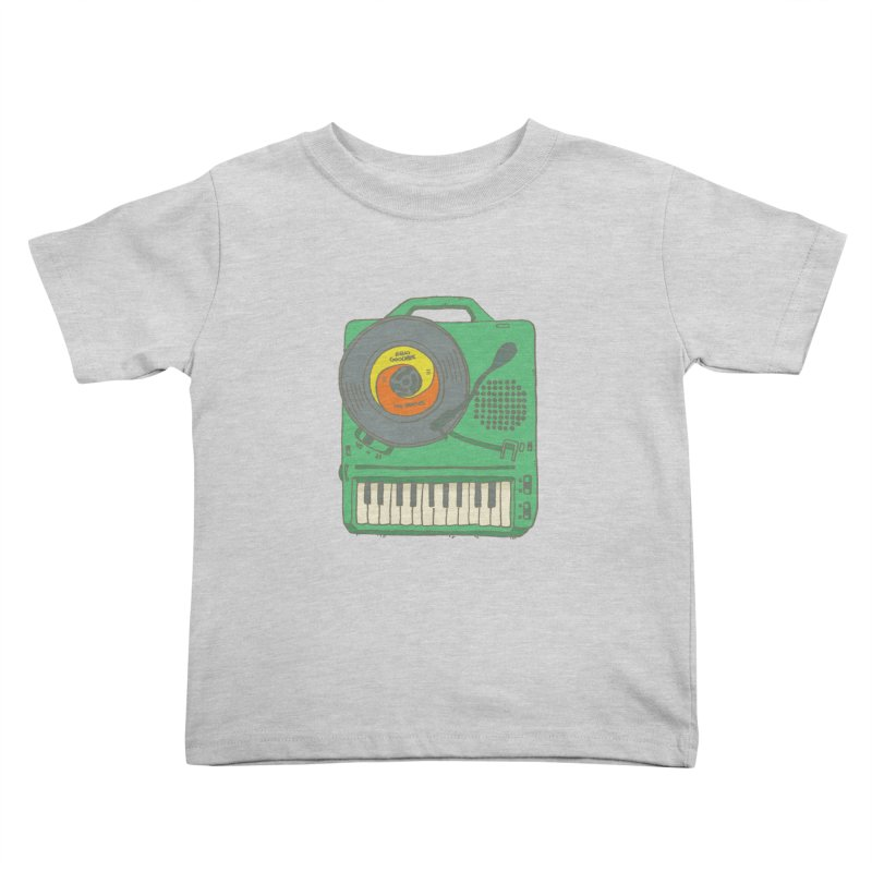 Portable Record Player 17 Kids Toddler T-Shirt by