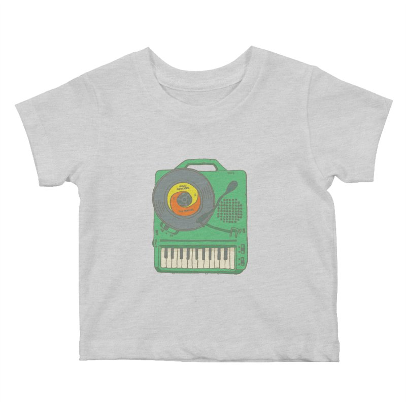 Portable Record Player 17 Kids Baby T-Shirt by