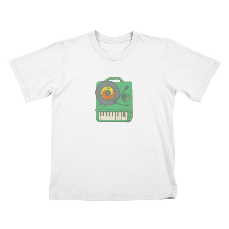 Portable Record Player 17 Kids T-Shirt by