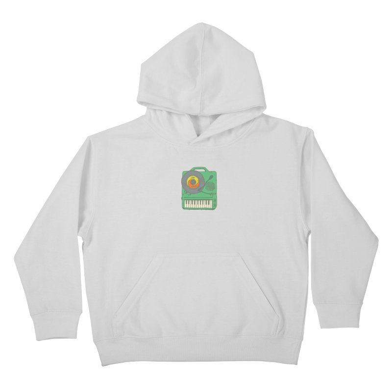 Portable Record Player 17 Kids Pullover Hoody by