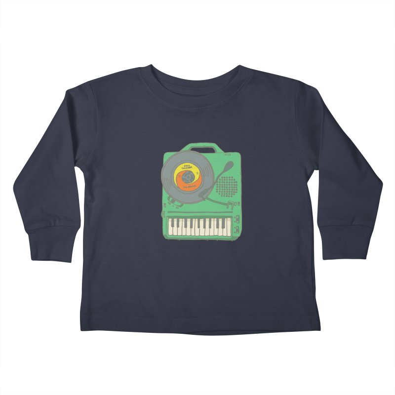 Portable Record Player 17 Kids Toddler Longsleeve T-Shirt by