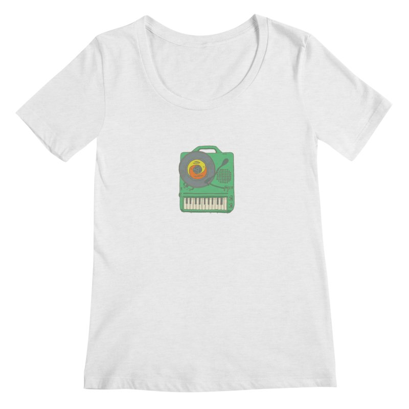 Portable Record Player 17 Women's Regular Scoop Neck by