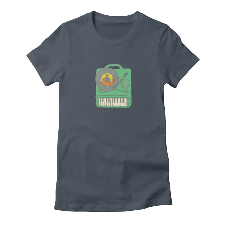 Portable Record Player 17 Women's T-Shirt by MightyMoss