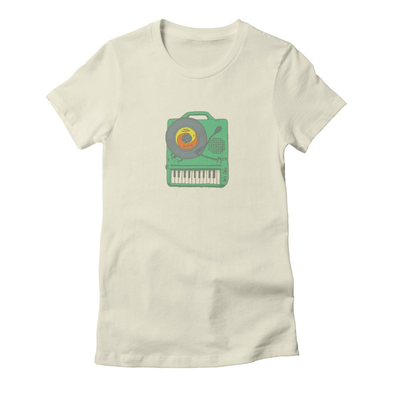 Portable Record Player 17 Women's Fitted T-Shirt by