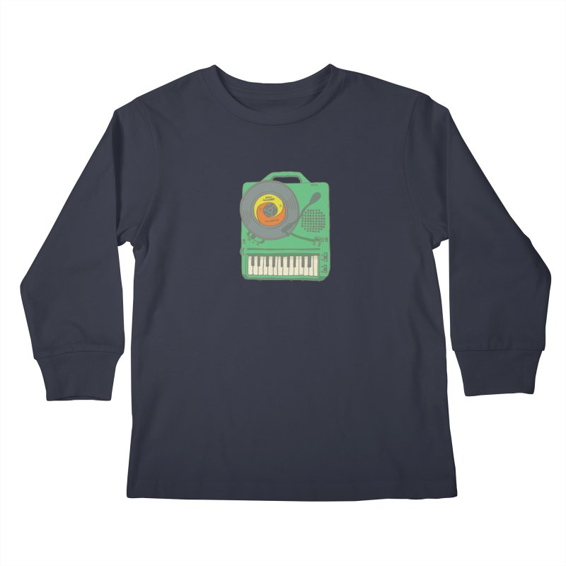 Portable Record Player 17 Kids Longsleeve T-Shirt by