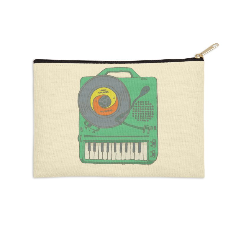 Portable Record Player 17 Accessories Zip Pouch by