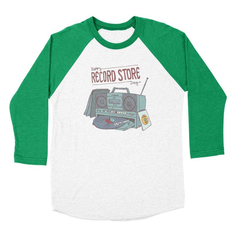 Record Boombox 16 Women's Baseball Triblend Longsleeve T-Shirt by