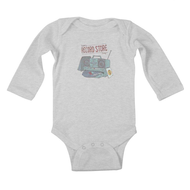 Record Boombox 16 Kids Baby Longsleeve Bodysuit by