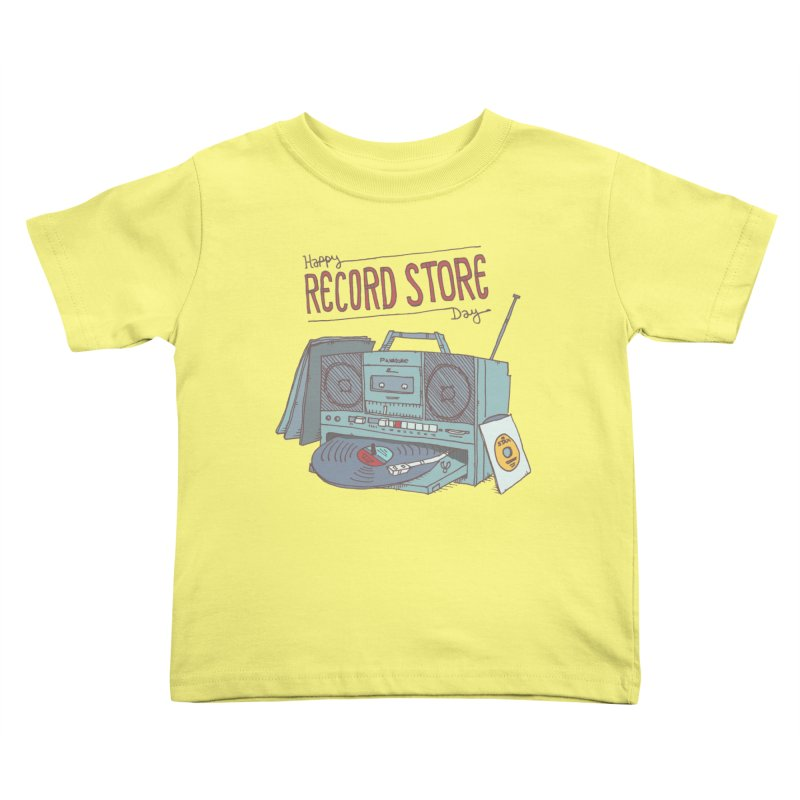 Record Boombox 16 Kids Toddler T-Shirt by