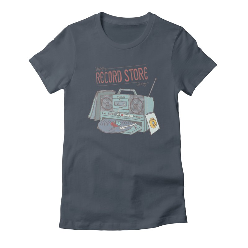 Record Boombox 16 Women's Fitted T-Shirt by