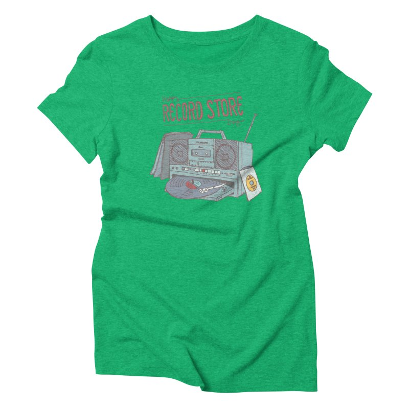 Record Boombox 16 Women's Triblend T-Shirt by
