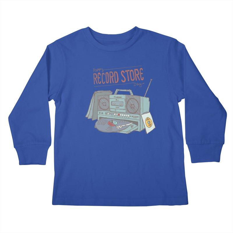 Record Boombox 16 Kids Longsleeve T-Shirt by