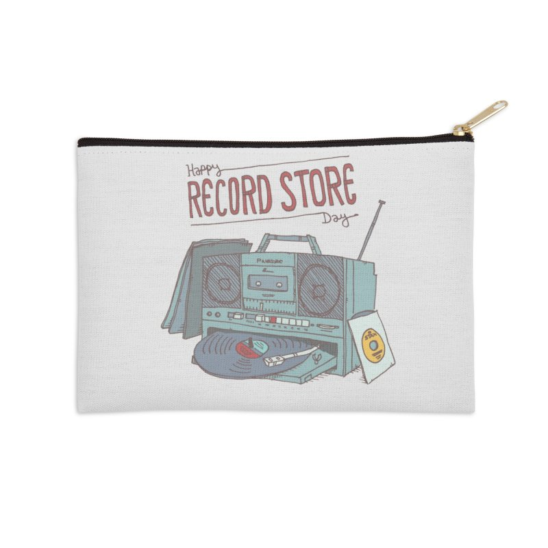 Record Boombox 16 Accessories Zip Pouch by