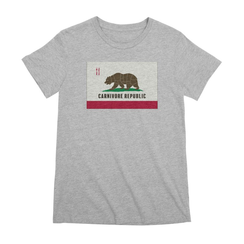 Carnivore Republic Women's Premium T-Shirt by Mightywombat's Artist Shop