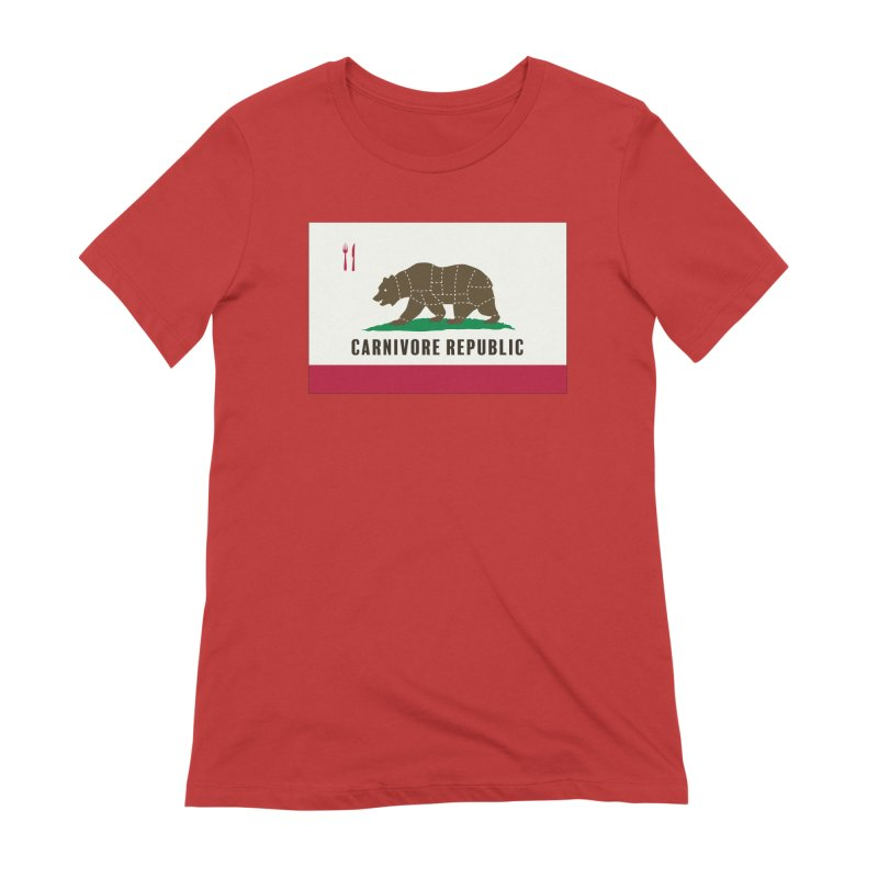 Carnivore Republic Women's Extra Soft T-Shirt by Mightywombat's Artist Shop
