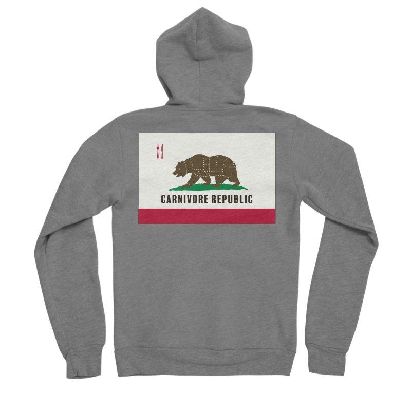 Carnivore Republic Men's Sponge Fleece Zip-Up Hoody by Mightywombat's Artist Shop