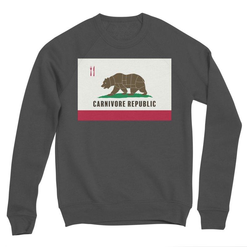 Carnivore Republic Women's Sponge Fleece Sweatshirt by Mightywombat's Artist Shop