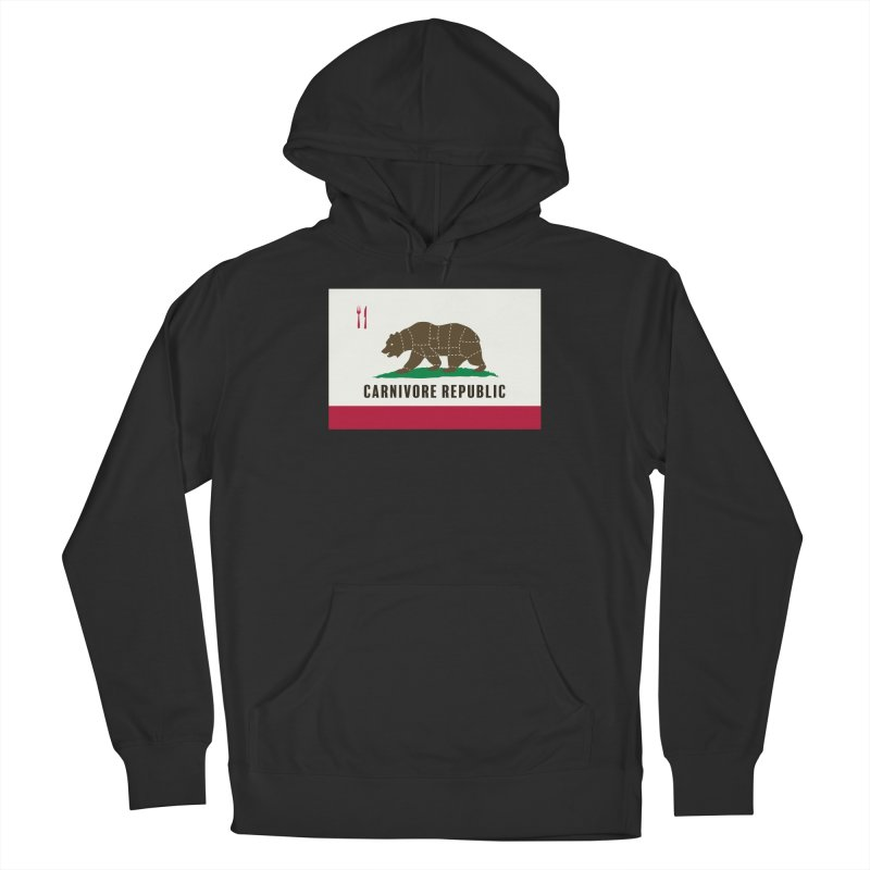 Carnivore Republic Women's French Terry Pullover Hoody by Mightywombat's Artist Shop
