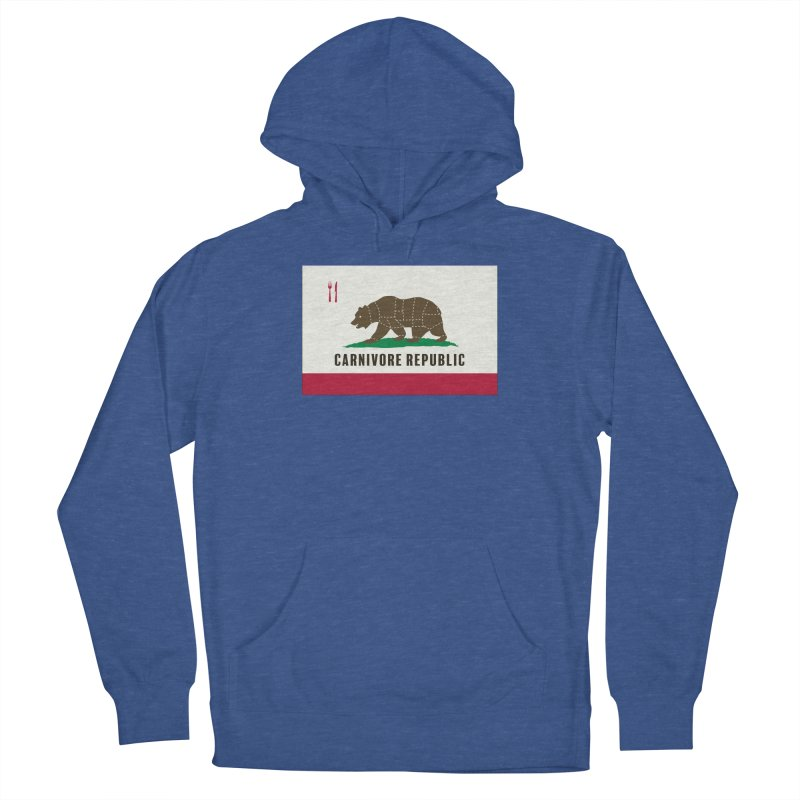 Carnivore Republic Men's French Terry Pullover Hoody by Mightywombat's Artist Shop
