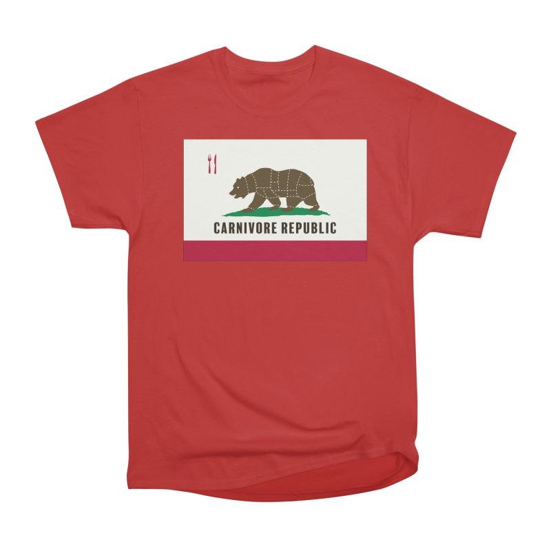 Carnivore Republic Women's Heavyweight Unisex T-Shirt by Mightywombat's Artist Shop