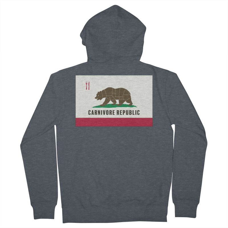 Carnivore Republic Men's French Terry Zip-Up Hoody by Mightywombat's Artist Shop