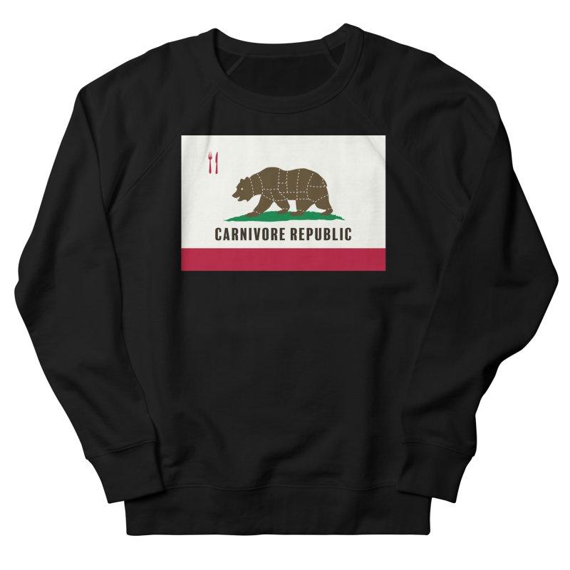 Carnivore Republic Men's French Terry Sweatshirt by Mightywombat's Artist Shop