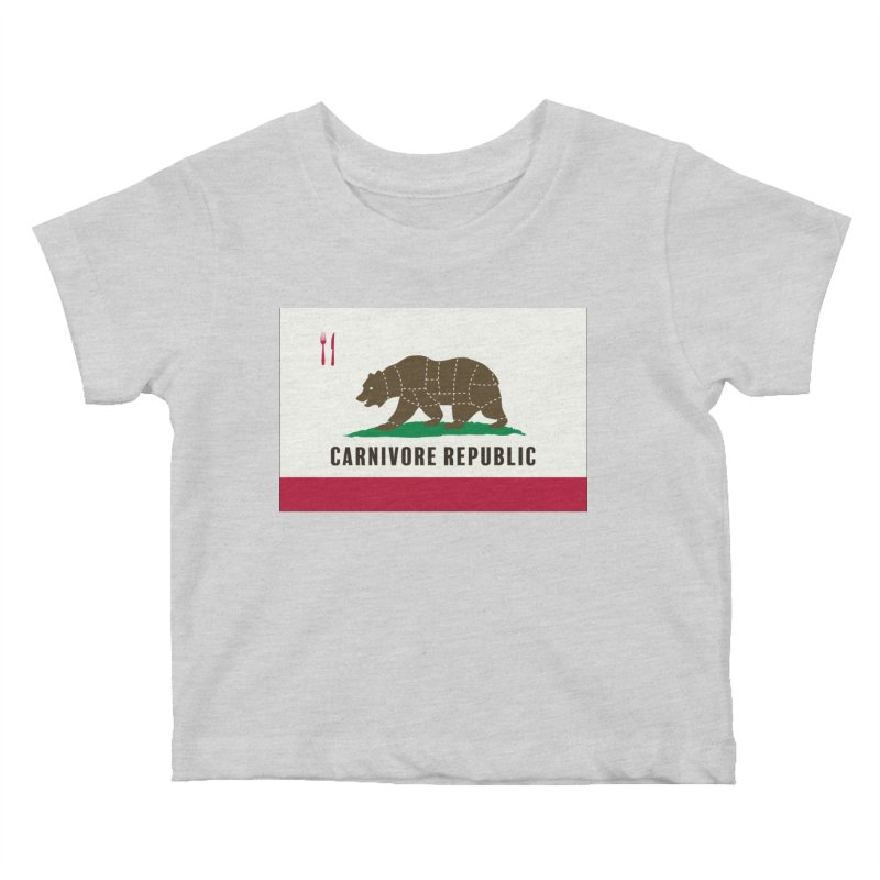 Carnivore Republic Kids Baby T-Shirt by Mightywombat's Artist Shop