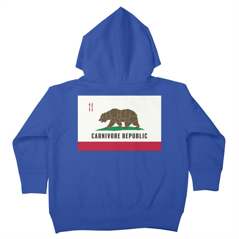 Carnivore Republic Kids Toddler Zip-Up Hoody by Mightywombat's Artist Shop