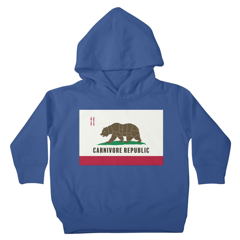 Carnivore Republic Kids Toddler Pullover Hoody by Mightywombat's Artist Shop