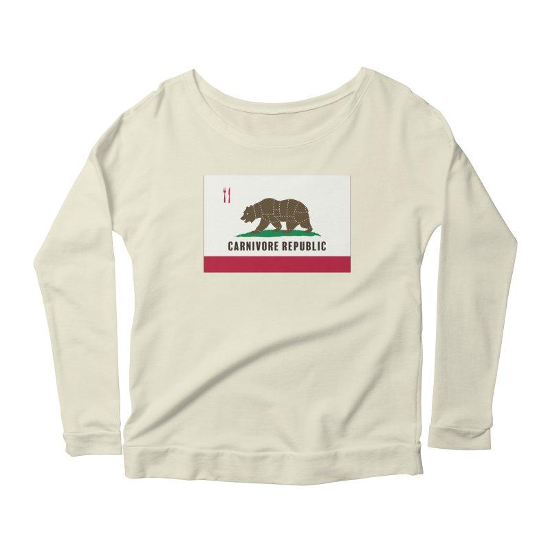 Carnivore Republic Women's Scoop Neck Longsleeve T-Shirt by Mightywombat's Artist Shop