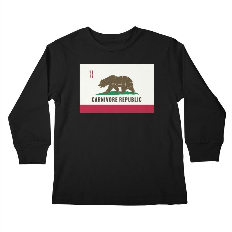 Carnivore Republic Kids Longsleeve T-Shirt by Mightywombat's Artist Shop
