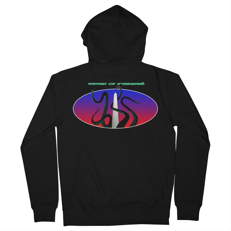 Washington Monument Tentacles Men's Zip-Up Hoody by mightywombat's Artist Shop