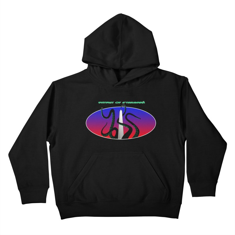 Washington Monument Tentacles Kids Pullover Hoody by mightywombat's Artist Shop