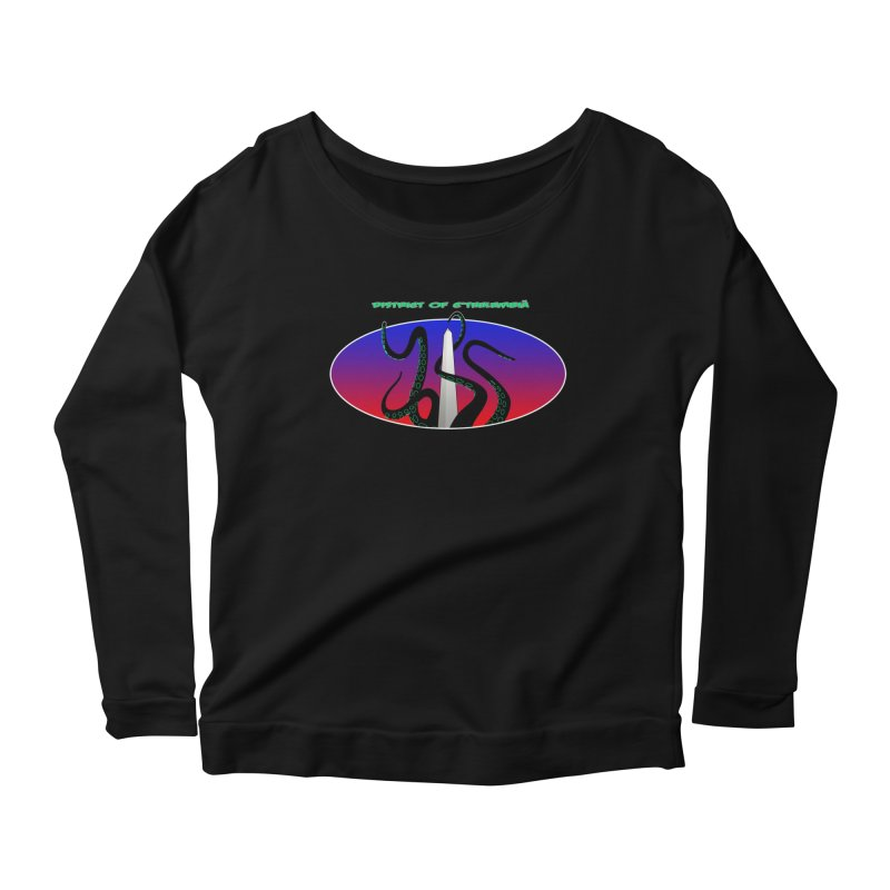 Washington Monument Tentacles Women's Longsleeve Scoopneck  by mightywombat's Artist Shop