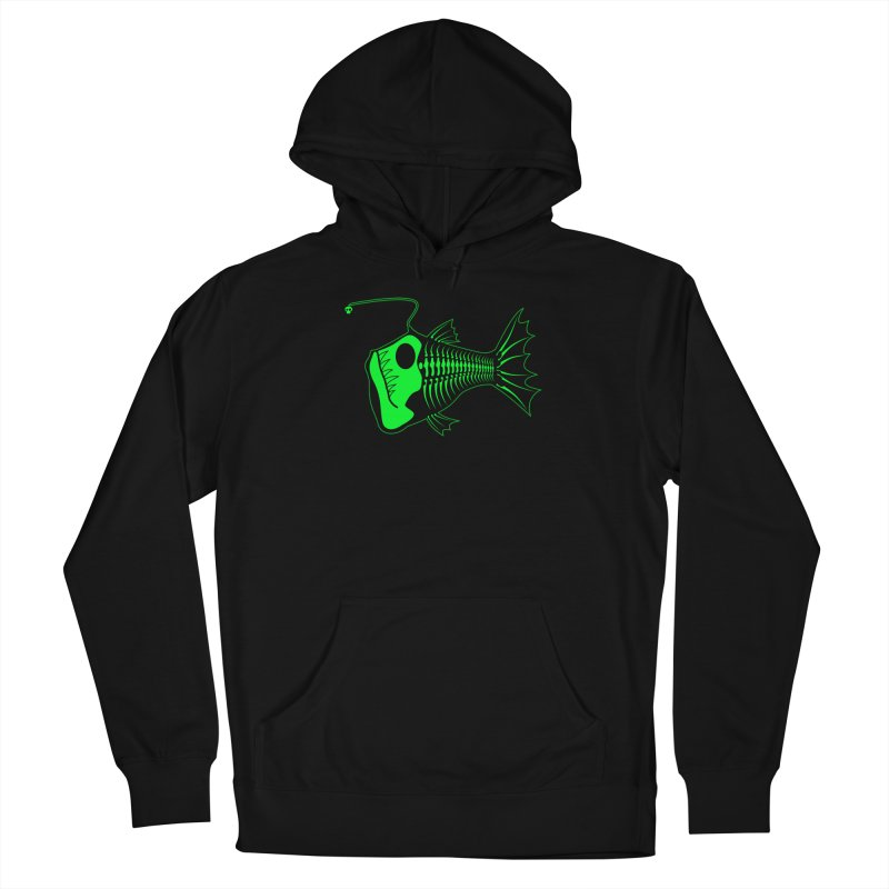 Angler Fish Men's French Terry Pullover Hoody by Mightywombat's Artist Shop