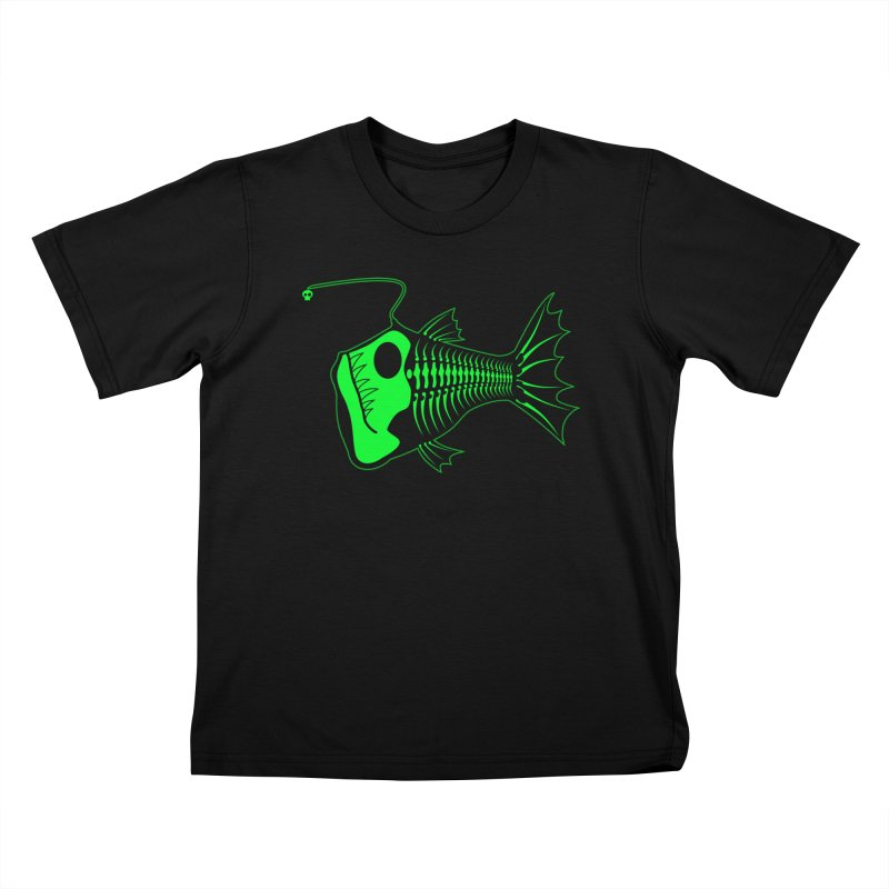 Angler Fish Kids T-Shirt by Mightywombat's Artist Shop