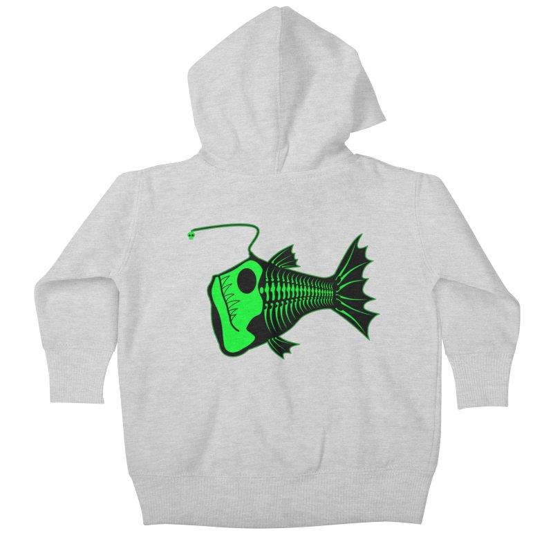 Angler Fish Kids Baby Zip-Up Hoody by mightywombat's Artist Shop