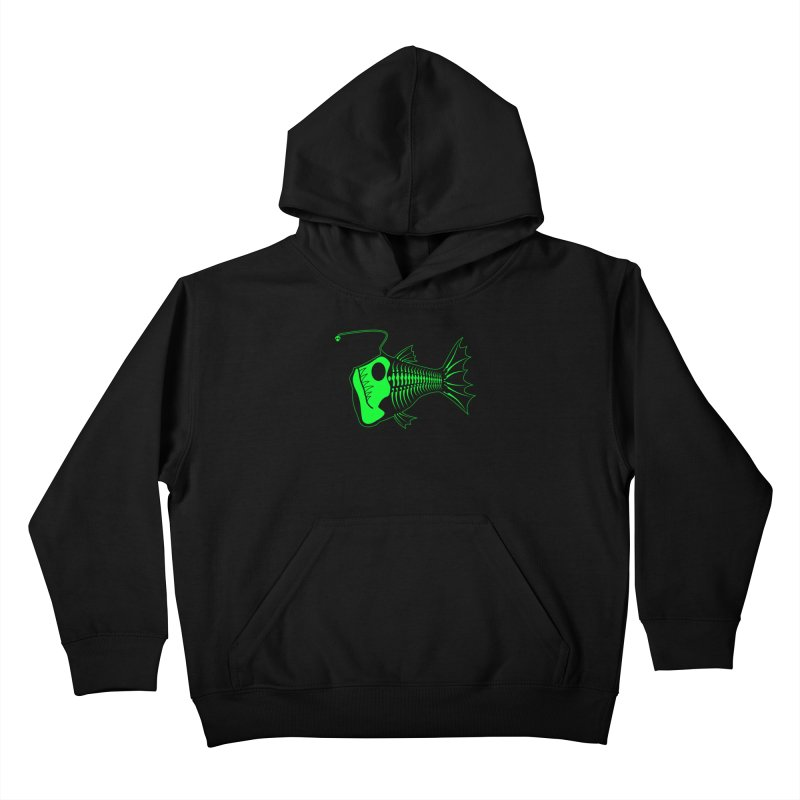 Angler Fish Kids Pullover Hoody by Mightywombat's Artist Shop