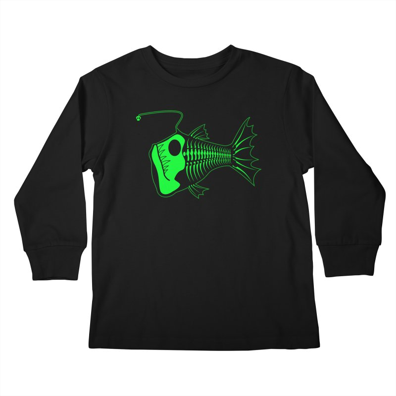Angler Fish Kids Longsleeve T-Shirt by Mightywombat's Artist Shop