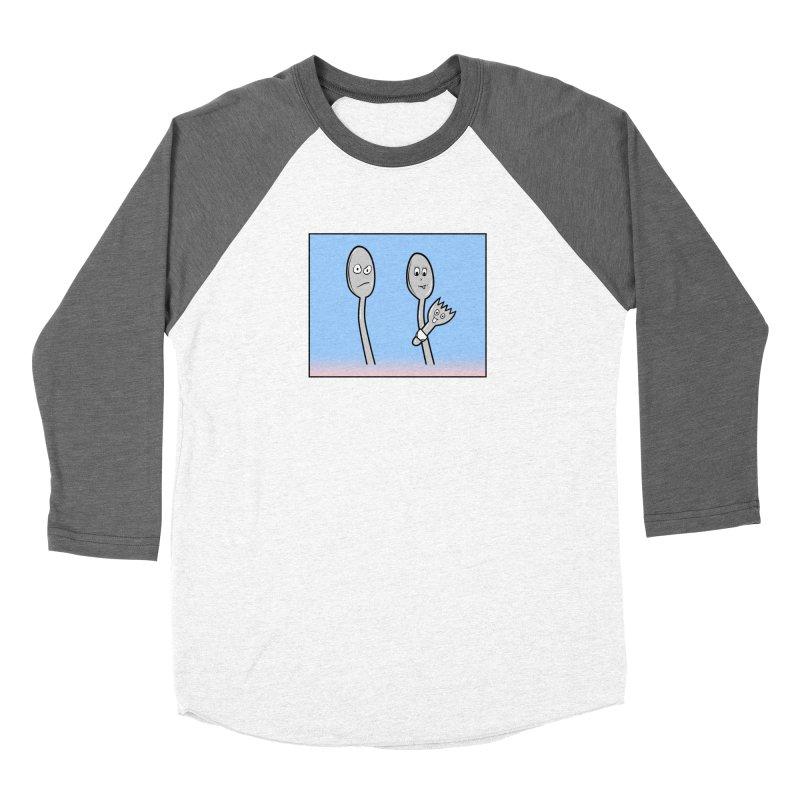 Spork Men's Baseball Triblend Longsleeve T-Shirt by Mightywombat's Artist Shop