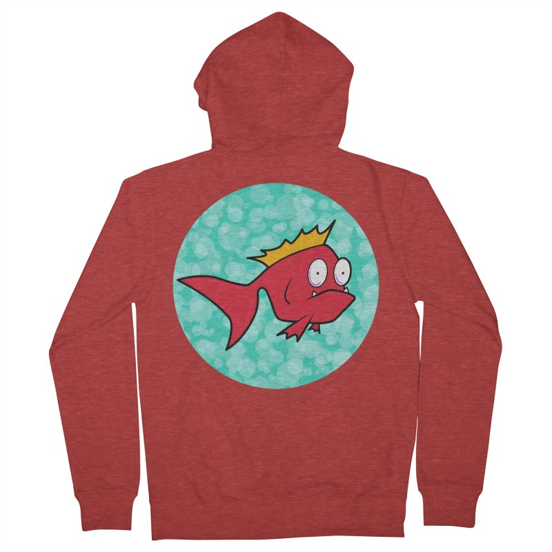 Concerned fish Women's Zip-Up Hoody by Mightywombat's Artist Shop