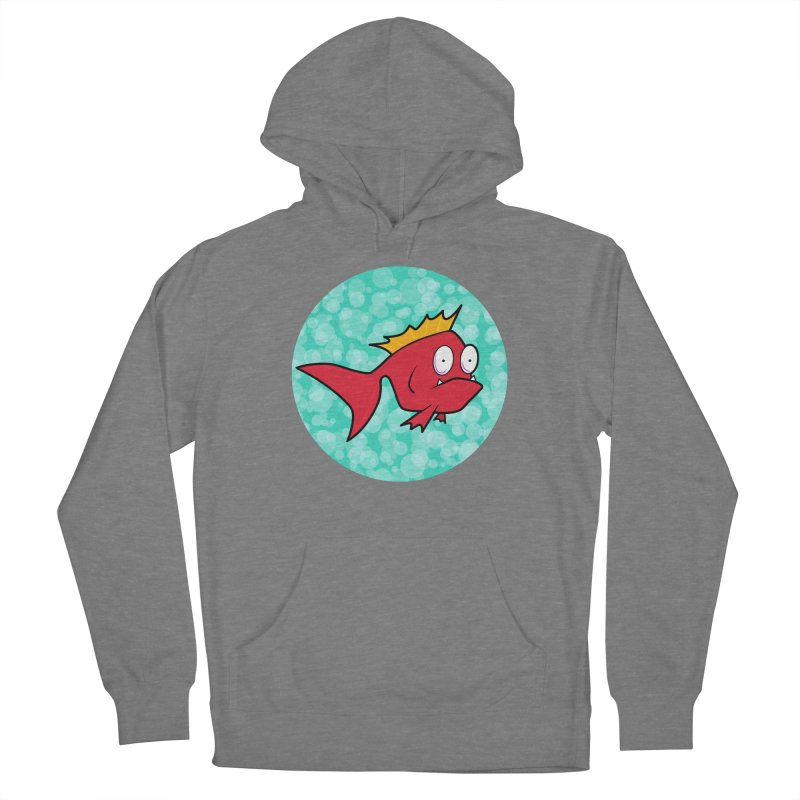 Concerned fish Men's French Terry Pullover Hoody by Mightywombat's Artist Shop