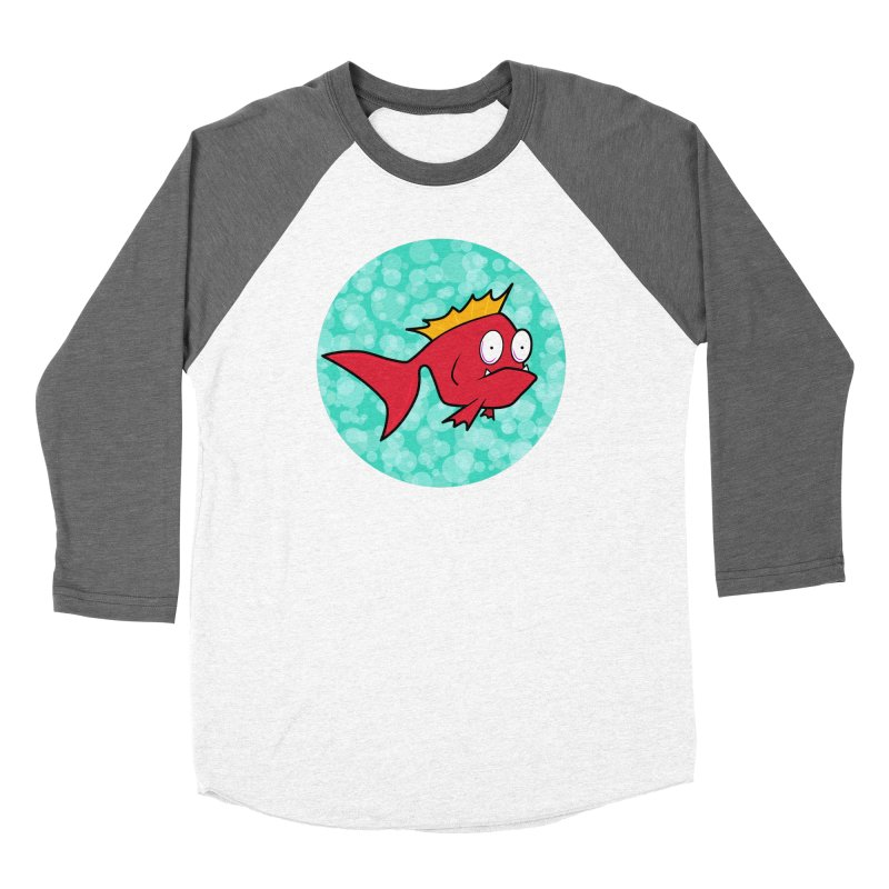 Concerned fish Women's Baseball Triblend Longsleeve T-Shirt by Mightywombat's Artist Shop