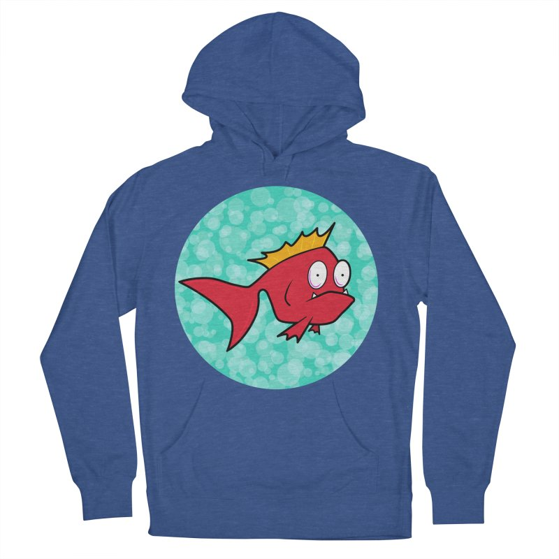 Concerned fish Women's Pullover Hoody by mightywombat's Artist Shop